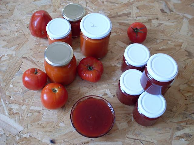 salsa y mermelada de tomate
