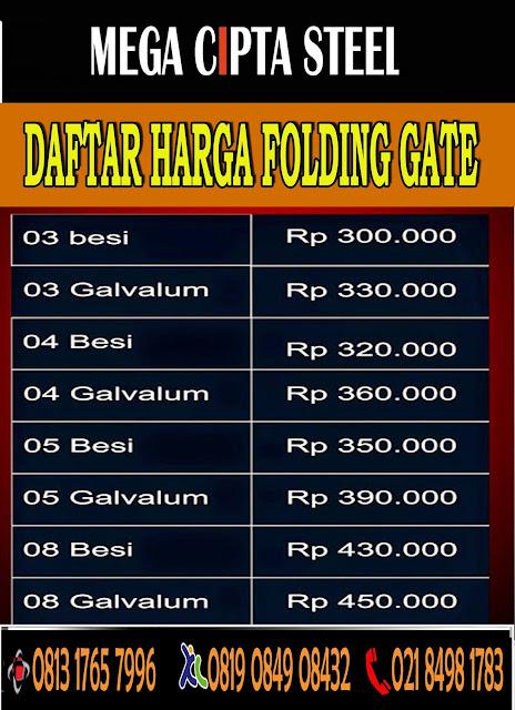 Jakarta Bekasi Depok Bogor Tangerang FOLDING GATE PVC ROLLING DOOR MURAH | Mega Cipta Steel