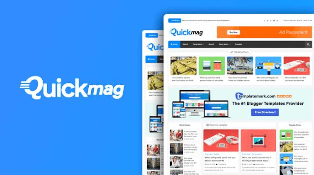Download Quick Mag - Magazine Blogger template