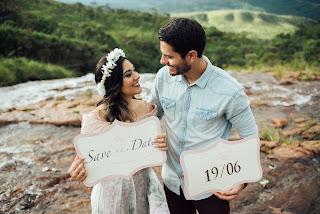 prévia romantica, save the date, casamento real