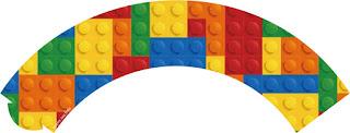 Wrappers para Cupcake para Imprimir Gratis de Fiesta de Lego.