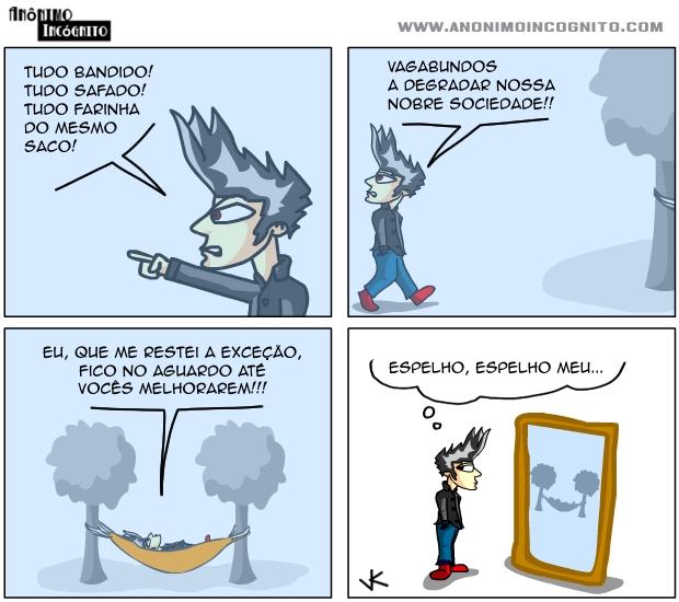quadrinhos do anonimo incognito: a exceção