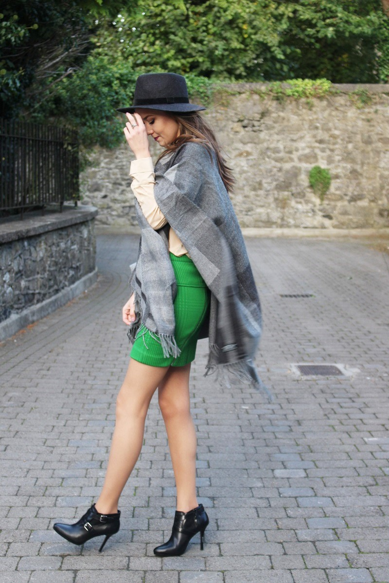 skirt and ankle boots