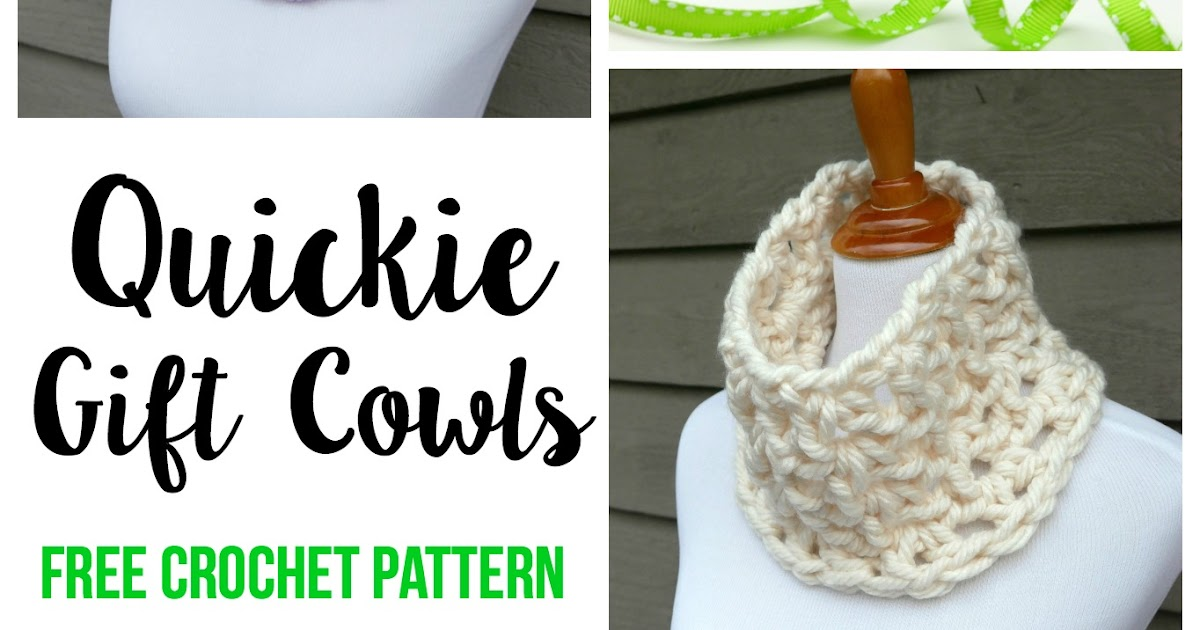 Quickie Cowl Knitting Pattern : Fiber Flux: Free Crochet Pattern: Quickie Gift Cowls!