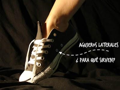 Para que sirven los agujeros laterales zapatillas converse