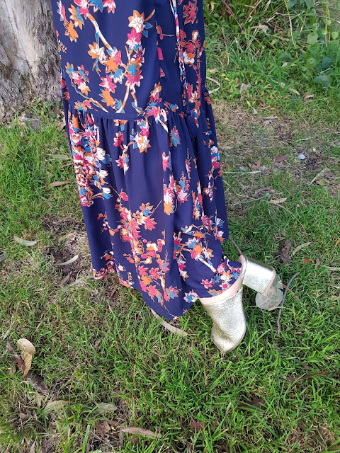 Marks-and-Spencer-floral-print-straight-maxi-skirt|Marks-and-Spenser-block-heel-mule-shoes