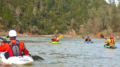 whitewater kayaking Eel River