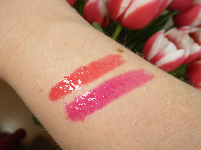 l'oreal, colour riche, l'extraordinaire, liquid lipsticks, 201, 401, rose symphony, fuschia drama, swatches
