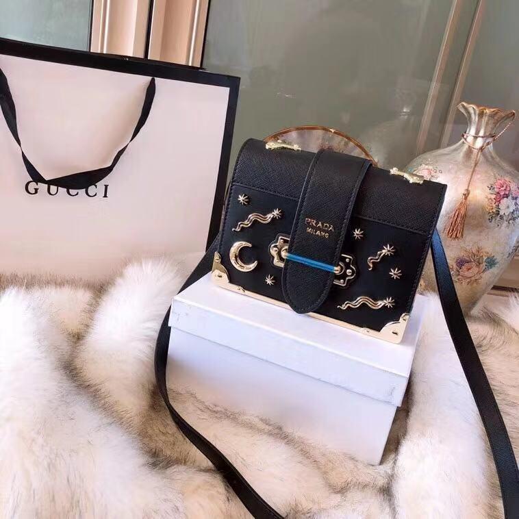 6ff013151147 PRADA Limited Edition Celestial Cahier Studded Sling Bag 🎁 Gift Box