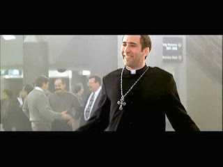 Nickolas Cage as a priest in Face off