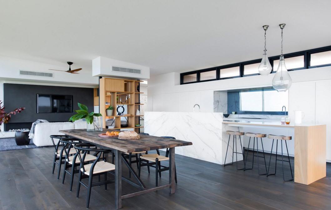la sala de estar moderna cocinas con estilo