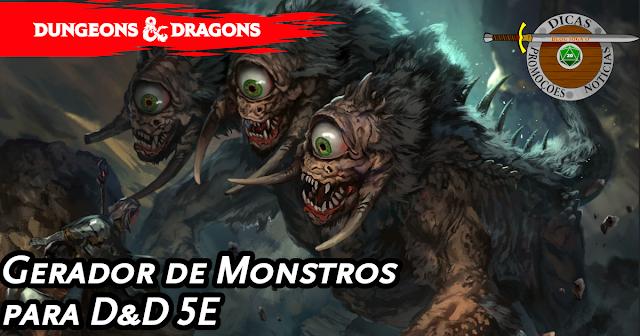 Gerador de Monstros para D&D5E