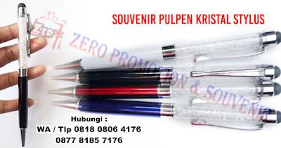 ual Pen Metal Grafir Kristal, Pulpen Crystal Stylus, Pulpen Crystal Grafir murah, souvenir pulpen unik, jual souvenir pulpen, souvenir pulpen murah