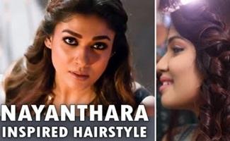 Easy Nayanthara Trending Hairstyle