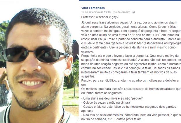 """El Club de los Llibros Perdidos, Río de Janeiro, """"PROFESOR, ¿USTED ES GAY?"""", facebook, Brasil, o globo"""