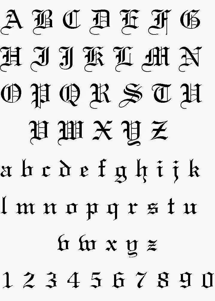 modele de litere pentru tatuaje
