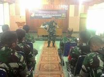 Anggota Militer dan PNS Kodim 1304/Gorontalo Mendapatkan Penyuluhan tentang Netralitas TNI
