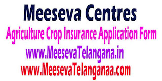 Meeseva Agriculture Crop Insurance Application Form