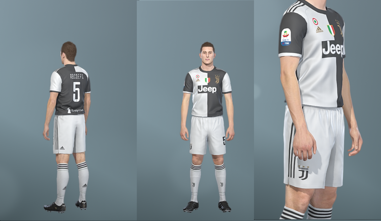 Juventus KitPack | Season 2019/20 | PES2019 | PC | PS4 | Pes