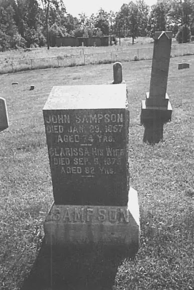 Tombstone of John and Clarissa Jollett Sampson