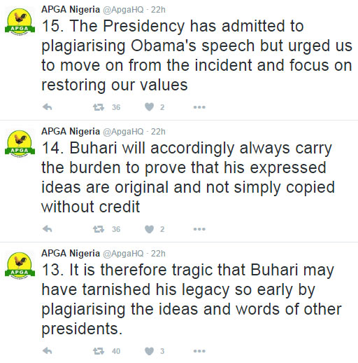 Opposition party APGA blasts Buhari for plagiarising Obama's speech