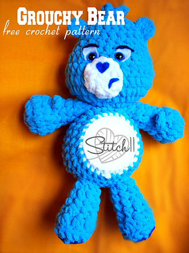 Crochet Big Velvet Bear - Free Patterns | Crochet bear patterns, Yarn  crafts for kids, Crochet bear | 500x375