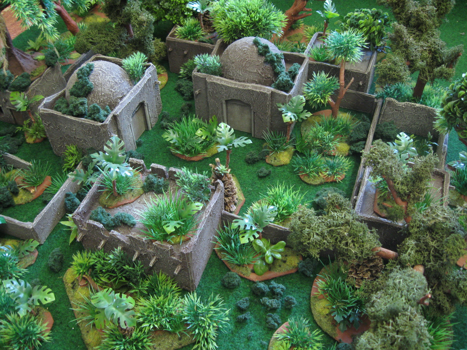 How to build miniature forest terrain