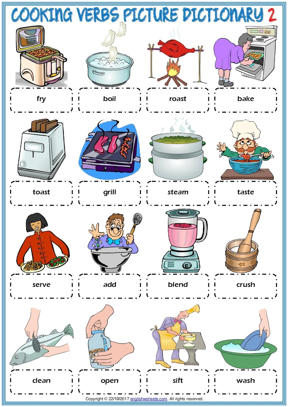 Gainzuri English Cooking Verbs