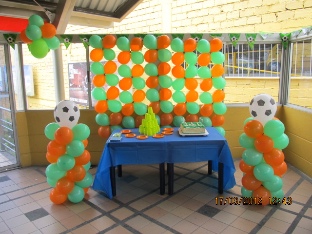 Decoracion equipos de futbol football fiestas infantiles for Decoracion fiestas tematicas