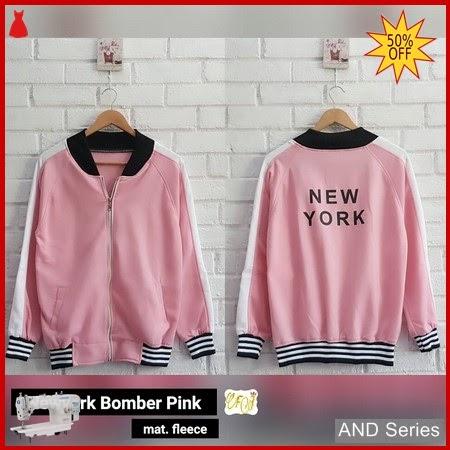 AND275 Jaket Wanita Newyork Bomber Jacket Pink BMGShop