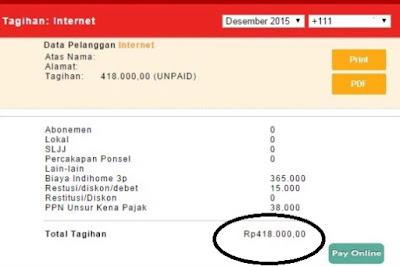 √ cara cek berapa tagihan IndiHome yang akan dibayar Via Internet Online 25