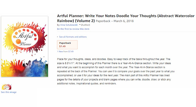 Artful Planner on Amazon Watercolor Bright Splashes