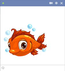 Adorable fish Facebook emoji