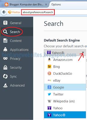 Cara setting laman utama pada browser Mozilla firefox