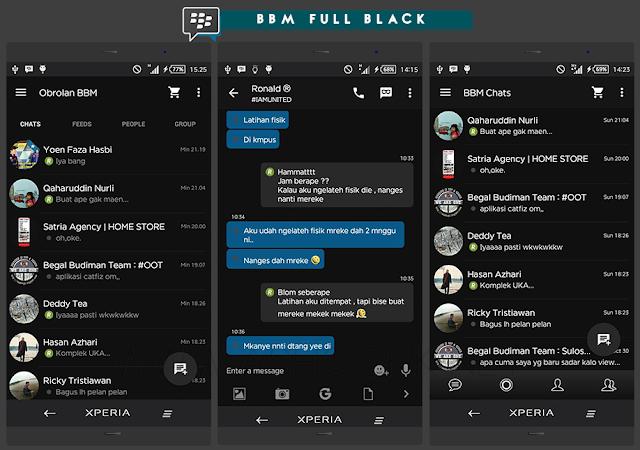 BBM Ful Black V2.10.0.35-BBM Android yang Minimalis