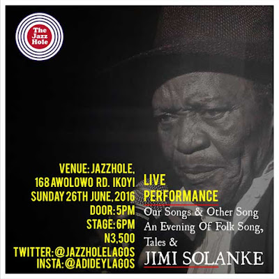 LIVE PERFORMANCE: An Evening of Folk Song, Tales & JIMI SOLANKE@JAZZHOLE,