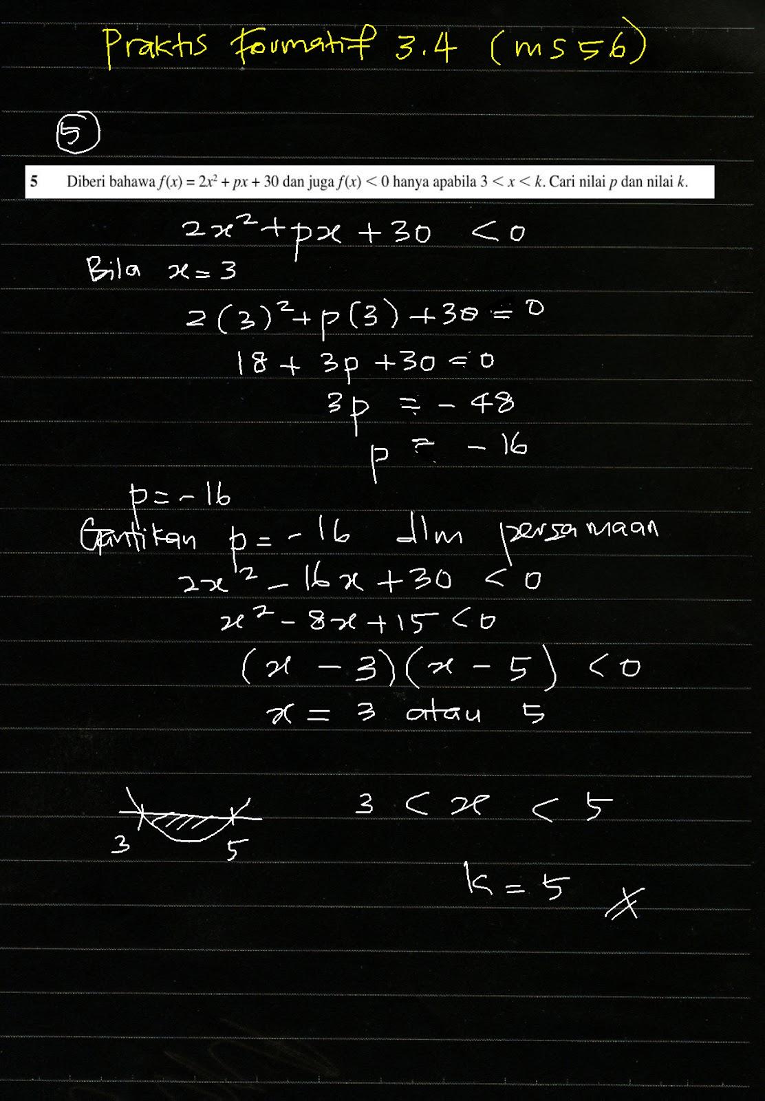 Soalan Add Math Kbat