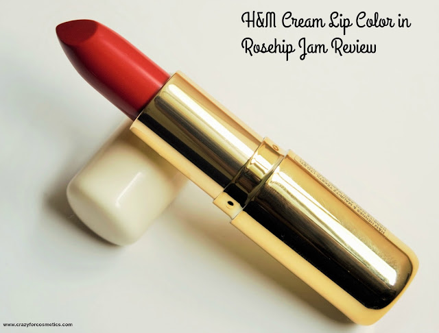 H&M Cream lip Color in Rosehip Jam Review