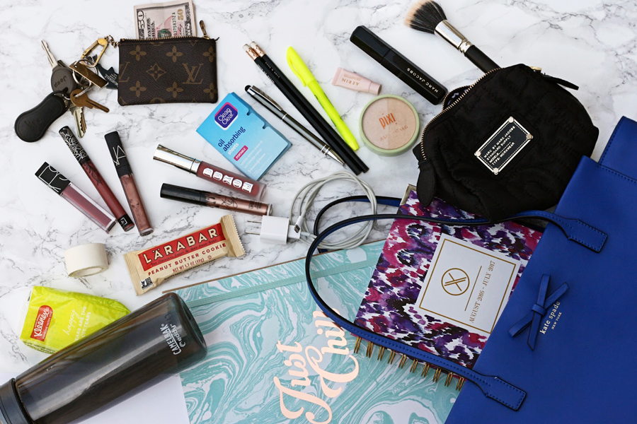 College Internship Tips, Internship Advice, College Blogger, Lifestyle Blogger, What's in My Bag, NARS, Camelback, Louis Vuitton, Pixi, XO Planners, Camelback, Clean and Clear, Marc Jacobs, MAC, Kate Spade Purse
