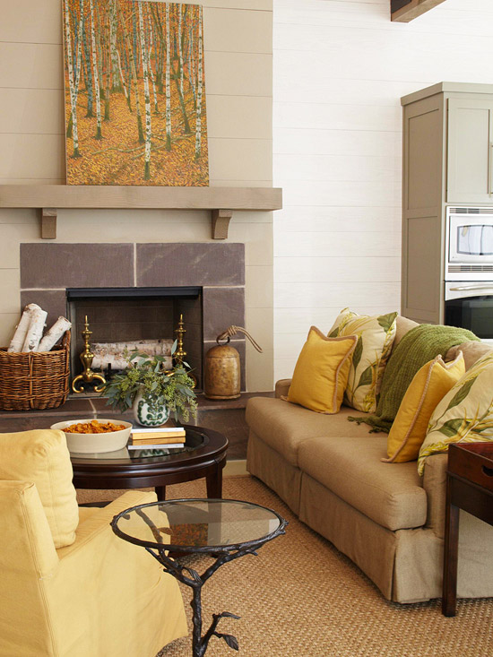 Brown And Black Living Room Designs: New Home Interior Design: Yellow Color Schemes