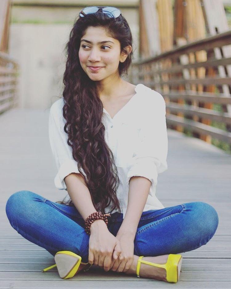 Sai Pallavi hot in white top and jeans