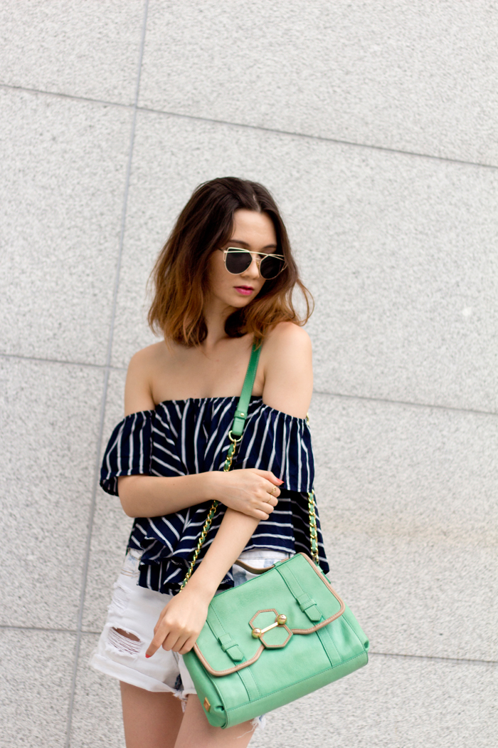 off the shoulder top, casual and couture, korean fashion, korean style