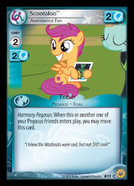 My Little Pony Scootaloo, Aerobatics Fan Friends Forever CCG Card
