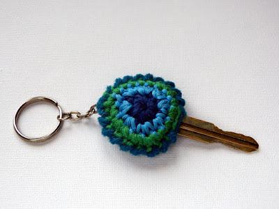 szydełkowe etui na klucz, naprawa połamanego kluczyka