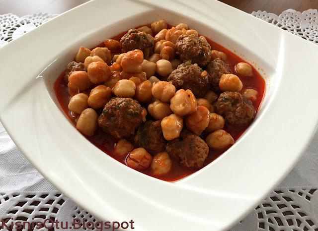 Köfteli, Nohut, Yemeği, Tarifi, Tarifler, kolay, et yemekleri, Kişniş