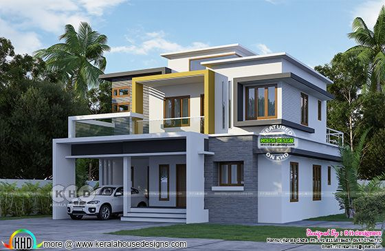 2069 sq-ft box type modern house
