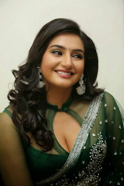 Actress Ragini Latest Stills in Green Saree