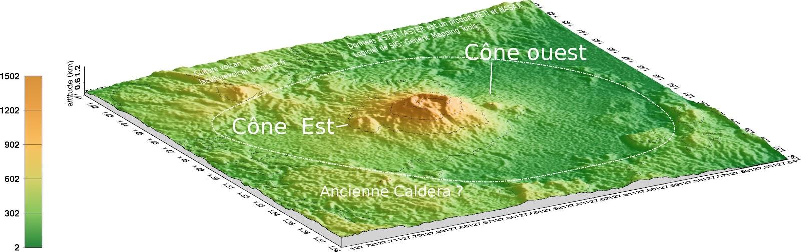 Modèle 3D du volcan Ibu