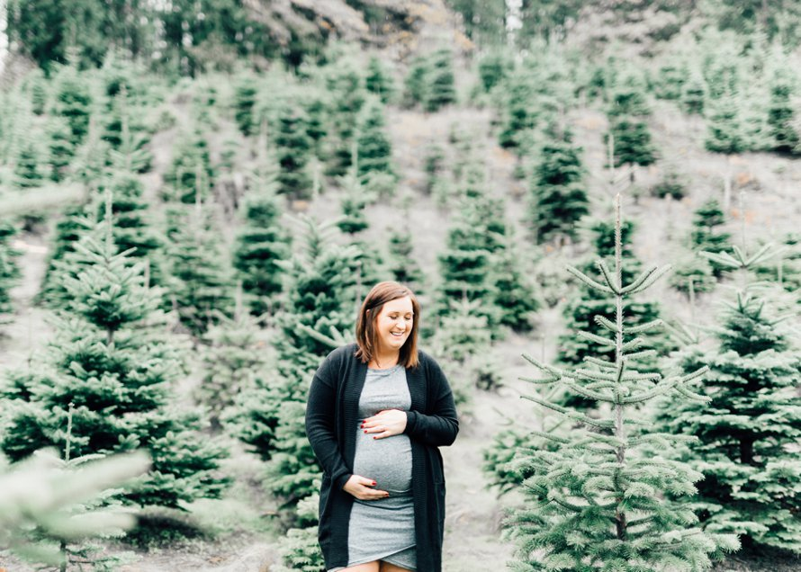 Tree Farm Photography | Maternity Session by Something Minted and Something More Photography