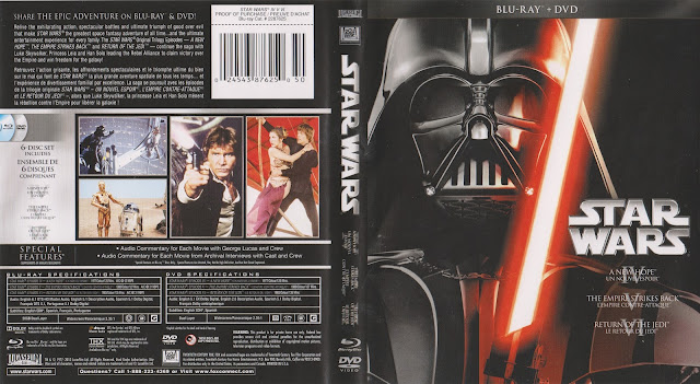 Star Wars: Trilogy - Episodes IV-VI (scan) Bluray Cover